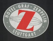 Hotel label luggage labels graf zeppelin airship #024